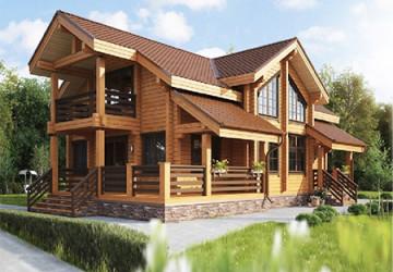 Проекты домов и бань из профилированного бруса